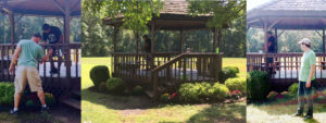 Union Forge Park Gazebo Gets Spruced up by Volunteers