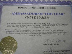 Gayle Maher was the recipient of this year's Ambassador of the Year Award,