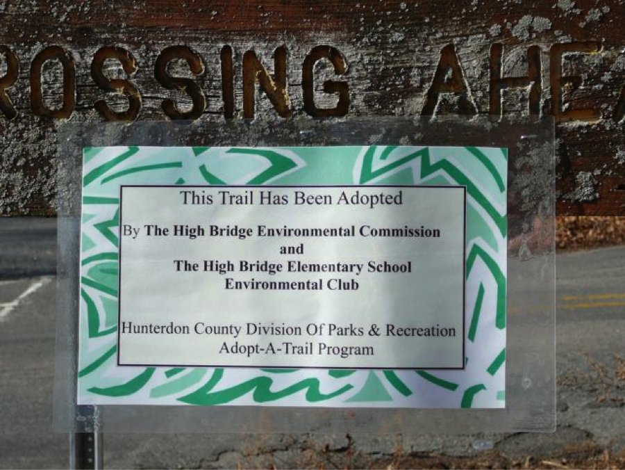 This trail has been adopted by The High Bridge Environmental Commission and The High Bridge Elementary School Environmental Club.