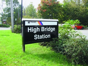 Picture of the High Bridge Train Station Signage
