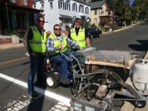 Hunterdon County Striping on Main Street – October 3, 2017