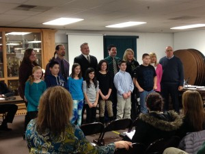 High Bridge Elementary School's Environmental Club, Youth winners of the Caught Being Green Award for having their poem chosen as one of NJDEP's 12 winners in their annual recycling poetry contest.