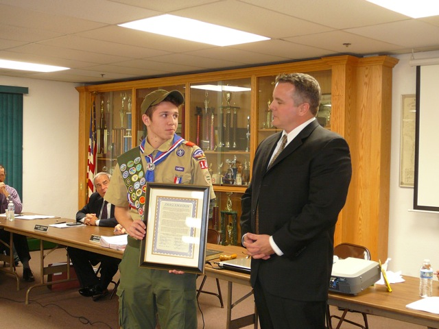 Eagle Scout Award for Zach Forteir