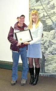 Linda Lucas - 2008 Green Award Recipient with Councilwoman Lynn Hughes